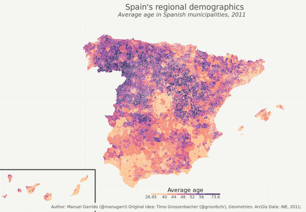 Mapa De España Bonito.Como Hacer Un Mapa Muy Bonito De Espana En Ggplot2 Pybonacci